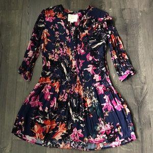 Anthropologie Maeve Caravane floral dress XS